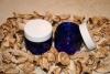 50ml Glasdose, kobaltblau/weiß