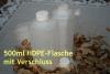 500 ml HDPE-Leerflasche, naturfarben (Verschluß)